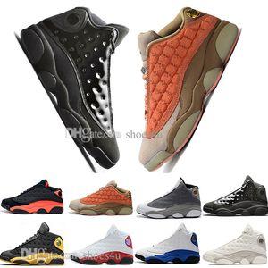 Nuovo 13 13s Cap and Gown uomini pallacanestro Scarpe Atmosphere Grigio Terracotta Blush Cat Nero Infrared Flints allevati Chicago DMP mens sport Sneakers