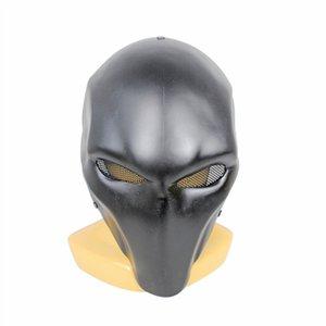 FRP Green Arrow Death Knell Double-eye Version Fiberglass Mask CS Field 304 Diamond Net Protective Eye Mask M121 -1 K990G