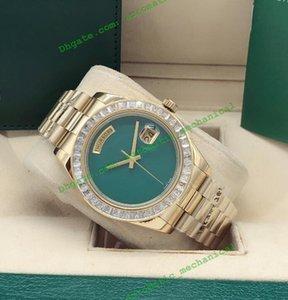 최신 버전 5 스타일 남성 다이아몬드 베젤 스테인레스 스틸 41mm 빈 자동 패션 남성 시계 손목 시계 다이얼