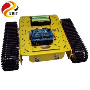 WiFi Metal Tank T200 by Android iOs Phone From ESPDUINO Development Kit with 2-way Motor & 16 Way Driven Shield