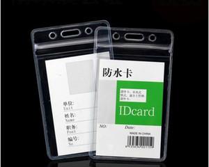 Şeffaf Dikey 70X110mm Yatay 80X98mm Yumuşak Su geçirmez Kimlik Kimlik kart PVC Adı Kartı Kasa Ücretsiz Kargo
