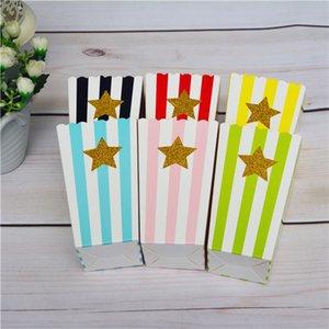 120 unids Popcorn Clipart Movie Theatre Clip Art Glitter Star / Heart Popcorn Box Rainbow Color comercial boda boda decoración