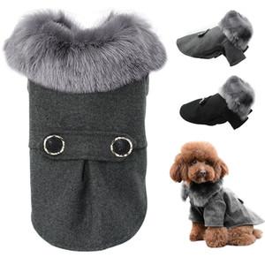 الكلب الملابس المتوسطة الصغيرة الكلاب الحيوانات الأليفة الصلصال تشيهواهوا الملابس الشتوية Roupas الحيوانات الأليفة جرو كلب يوركي طبقة دثار مع الفراء S-2XL