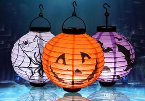 Lanterne citrouille Halloween, lanterne lumineuse en papier, lanterne à la main, lieu d'halloween, accessoires, éclairage Halloween, 4 couleurs 66