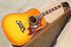 """Три цвета 41"""" Folk Акустическая гитара с Dove накладку, могли бы установить Fishman 101/301/501 Pickups"""