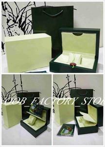 2019 nova Verde Brand Watch Original Cartão Caixa Papers bolsa de Natal Caixas de presente bolsa 0,7 kg Para top box Relógios