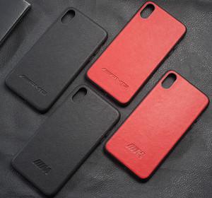 아이폰 X XS MAX XR 8 7 6 6S Plus 고급 가죽 전화 커버 AMG 모터 스포츠 레이싱 카 로고 M coque