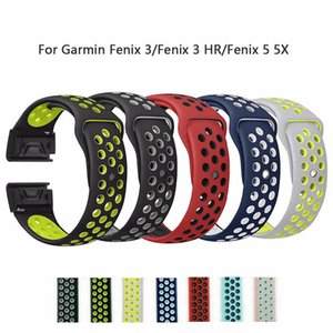 26mm 22mm doux Silcone bande Garmin Fenix 3 / Fenix 3 / HR Fenix 5 5X Wristband Quick Fit bracelet Band Bracelet Fashon Bracelets montres