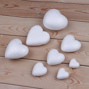 Polystyrene Styrofoam Foam Ball White Craft Heart-shaped For DIY Christmas Party Decoration Supplies Gifts