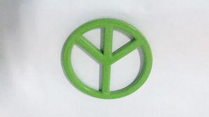 Vert 3D Groovy Signe de la paix Chrome Emblem Sticker Autocollant Auto Car Truck Truck Vélo Universalité