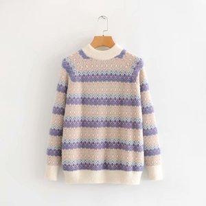 woah 2019 TL53-7139 Европейский и американский жаккардовый свитер моды
