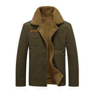Зима толстые мужские бомбардировщик куртка ВВС хлопок теплые парки верхняя одежда пальто