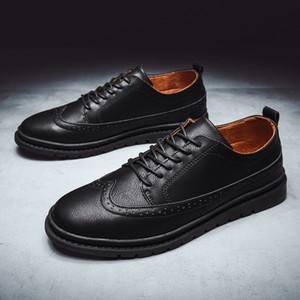 Scarpe Plus Size 39-44 Men Casual Shoes Flats uomini di alta qualità dei nuovi uomini di 2019 Big formato handmade dei pattini Mocassini per Male% C828