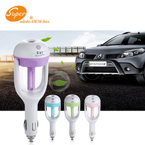 New Hot High Quality Car Plug Air Humidifier Purifier,Vehicular essential oil ultrasonic humidifier Aroma mist car fragrance Diffuser