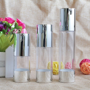 15ml 30ml 50ml Clear Plastic Airless Bottle Pump Lotion Refillable Packing Bottles Cosmetic Container Makeup Tool
