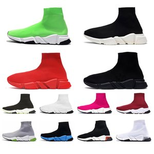 Fashion 2020 Designers Speed Trianers Clear Sole Socks Casual shoes for men women Triple Black white red grey Sports Sneakers szie 36-45