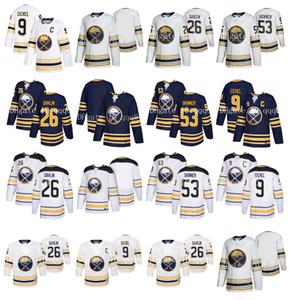 NHL Buffalo Sabres Jersey 9 Jack Eichel 26 Rasmus Dahlin 53 Jeff Skinner Blank femmes des hommes avec 50e saison Maillots de hockey Patch