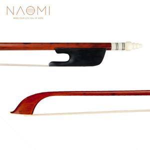 NAOMI 4/4 Size Violin Bow Bow Snakewood W / ébano Frog alta qualidade Cavalinha Cabelo Bem Balance Violin Instrumentos Nova