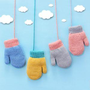 Малыш девочки мальчики открытый зима согреться варежки перчатки костюм для 2-4 лет дети зима теплые перчатки варежки