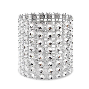 Napkin Ring, 120 Pieces Of Napkin Ring Diamond Decoration, Suitable for Placement, Wedding Reception, Dinner or Holiday Party, F