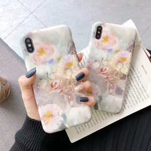 For IPHONE XS MAX Protective Silicone Phone Case Franch Oil Painting Flower Style Back Cover Compatible For apple 11 MAX XR 8PLUS