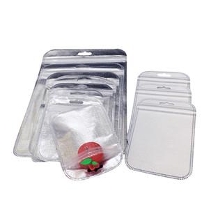 300pcs sacchetto del regalo di plastica oro all'ingrosso 3 dimensioni sacchetto di imballaggio della chiusura lampo di plastica per la copertura del telefono per iPhone 5s / 6s / 6 più Samsung s4 / s5 / note3