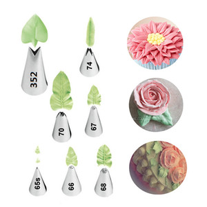 7 Pcs / set Leaves Cream Metal Tips Stainless Steel Icing Piping Nozles Cake Cream Decorating Cupcake Pastage Tools