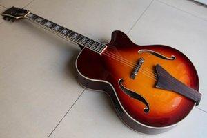 Sunburst에서 EQ가있는 재즈 음향 일렉트릭 기타를 판매하는 맞춤 공장