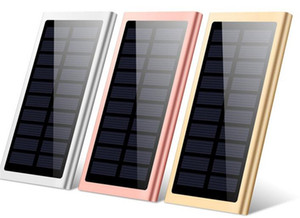 Drop Battery batteria portatile 20000mAh Power Solar Bank Caricabatterie Mobile LED Lampada da campeggio Torcia elettrica Dual Pannello USB impermeabile per il cellulare