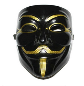 3 estilos frescos V de Vingança Máscara Máscara Traje Vestido Guy Fawkes anónimo Halloween Fantasia Cosplay Carnaval de Veneza