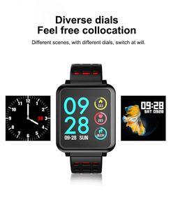 Smart Watch Herren Q8 Smart Armband Display Sport Step Band Fitness Tracker Herzfrequenzsensor Blutdruck Herrenuhr