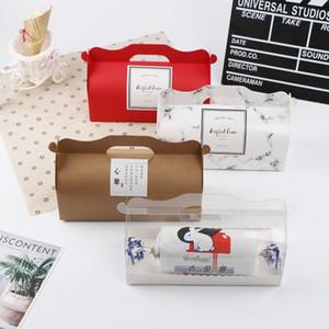 Petit gâteau boîte avec 50pcs paquet boîtes d'emballage de gâteau de plateau emballage papier sulfurisé tasse de pudding suisse rouleau à pâtisserie Livraison gratuite