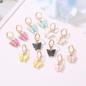 I nuovi monili delle donne di modo degli orecchini di colore acrilico orecchini della farfalla Animale Insetto dolce Orecchini Party Girls
