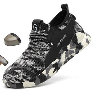 LEOSOXS Erkekler ayakkabılar Çelik Burun Emniyet Ayakkabı Casual Nefes Sneakers Açık Karşıtı Delinme Boots İş Ayakkabıları Erkek Çalışır