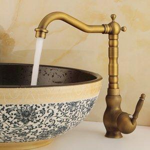 Robinets bassin 360 degrés de rotation de bain Robinet Tous European Copper froide et chaude à double usage antique robinet de cuisine