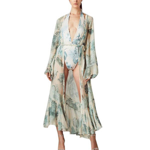 Frauen Kimono Kleider Casual Chiffon Cardigan Open Long Bikini Cover Up Lightweight Lose Cardigan Kleider