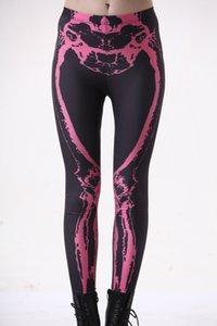 Digital print black teams are red and bone light sexy a bottom leggings