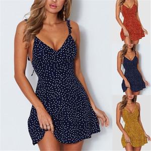 Vestido de mujer de diseñador de la marca Little Luxury Point 2019 Vestido de encaje en la parte posterior de Wave Point Vestido de diseño de tres colores Tamaño lindo de S a 3XL