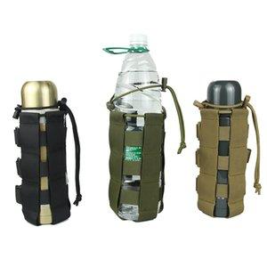Viajes Botella de agua de la bolsa táctica Oxford cantina pistolera de la cubierta exterior Caldera Bolsa de excursión que acampa Bolsas duradero