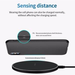USB-Kabel Qi Wireless-Schnellladegeräte für iPhone 11 XR Samsung S10 10W Schnellladegeräte Legierung Micro Lade Sichere Lade Desktop-Pads