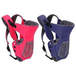 Da 0 a 24 M Baby Sling Wrap Multi-funzione Marsupio Zaino Traspirante Cotone infantile Cintura da trasporto Mamma Papà Sling Wrap