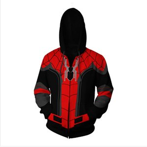 2019 슈퍼 히어로 어벤져 3 Spiderman Iron Man Hoodies Iron Spider man Venom Black Panther Spider-Gwen Pullover SweatshirtfactorySH190902