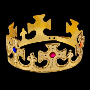 Birthday Imperial Crown Toy Crown Kid Toys Happy Birthday Party Decoration Royal King Plastic Crown Prince Costume Accessory New