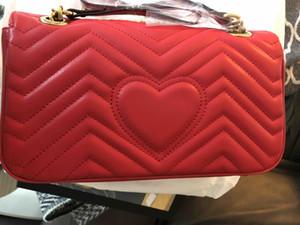 Nuovo donne di marca cuore progettista amore famoso corpo SOHO borsa catena in pelle Borsa a tracolla trasversale donna Borsa crossbody V Saluto borsa del modello borsa