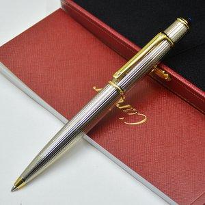 CA الماركات الكرة المعدنية القلم مع الذهب الفضة كليب اللوازم قلم حبر جاف مكتب الأعمال الكتابة القرطاسية السلس عبوة هدية أقلام 14 خيارات