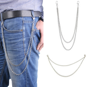 10 Styles Street Style Women Men Fashion Big Ring Key Chain Metal Wallet Belt Chain Long Punk Pant Jean Keychain HipHop Jewelry