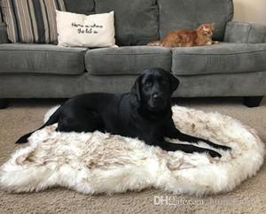 Tyteps fausse fourrure orthopédique Dog Bed Curve White Dog Tapis pour Big Moyen Petit Puppys Soutien Dropping Livraison