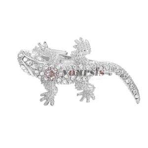 Yoursfs homens moda banhado a ouro 18k prata gecko gravata clipe design exclusivo aniversário de Natal presente de aniversário