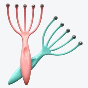 Fünf-Finger-Kopf Relax Massage Haar gehalten Scalp Hals Stress Relief Massage Auslösekopf Stahlkugel Massage