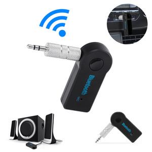 Luxury Universal 3.5mm Bluetooth Car Kit A2DP Wireless AUX Audio Music Receiver Adattatore vivavoce con microfono per il telefono MP3 pacchetto al dettaglio
